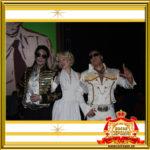 Двойник Мерилин Монро и Двойник Элвиса Пресли на празднике с Двойником Майкла Джексона
