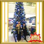 Двойник Лайзы Минелли и двойник Чарли Чаплина встречают гостей новогоднего корпоратива в Москве фото