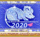 Как встретить новый 2020 год Белой Металлической Крысы?